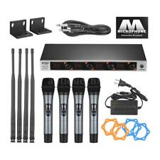 4 Channel VHF Handheld Wireless Microphone System for Karaoke Family Party T5W3