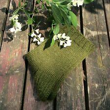 Russian Men's Wool Socks Hand Knitted  Handmade  #26 Green