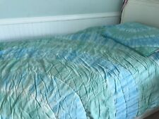 Pottery Barn Pb Teen Teal Pool Tie Dye Twin Girls Quilt Sham Bedding
