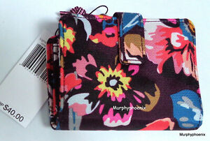 Vera Bradley Lighten Up RFID Small Wallet Indiana Blossoms NWT MSRP $40 (24795)