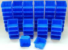 60 Stapelboxen Gr.1 Stapelbox 102x95mm blau Sichtlagerkasten  Stapelkästen Neu