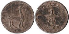 1856 Peru 1/4 Real Silver Coin Llama KM#143.1