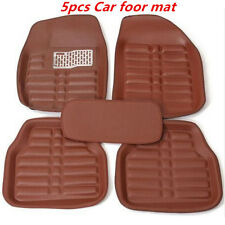 5Pcs Universal Auto All Weather Car Floor Mats Front & Rear Carpet Waterproof