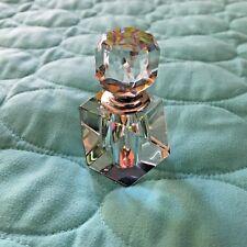 Vintage  prism cut crystal Perfume Bottle Hexagon Shape - Dauber in Stopper
