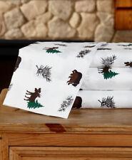 Lodge Northwoods Woodland Pinecone Sheet Sets Bear Moose Sheets Cabin Bedding