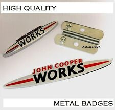 Mini Cooper John Cooper Works Grill + Rear Boot Badge Set Emblem one S D JCW 4s