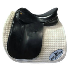 "Used Karl Neidersuss KN Olympik Dressage Saddle - Size 17"" - Black"
