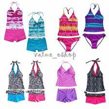 Girls Kids Tankini Set Swimming Bikini Costume Swimsuit Beach Clothes Swimwear