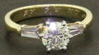 EGL USA 14K gold 1.20CTW VS diamond wedding/engagement ring w/ 1.0CT ctr. size 6