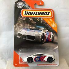 NEW 2020 Matchbox Mainline Lamborghini Gallardo Police 87/100 MBX City White