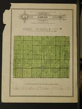 Indiana Clinton County Map Johnson Township  1919  Y8#72