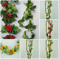 1,90m Blumenranke Rose Kunstpflanze Kunstblume Girlande Hochzeit Dekoration K029