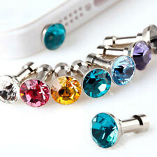 10Pcs New Rhinestone Anti Dust Earphone Plug Cover Cap Mobile Phone Decor 3.5mm