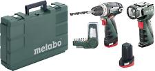 Metabo PowerMaxx BS Basic Set Akku-Bohrschrauber 10.8V 2Ah Li-Ion inkl. 2. Akku,