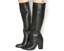 100% Leather Pull On Boots for Women OFFICE