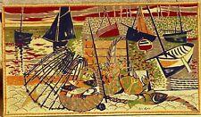 René Genis tapisserie imprimée vers 1950 1970