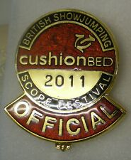 More details for british showjumping 2011 enamel badge scope festival official equestrian horse