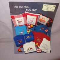 This and That Kids Stuff Counted Cross Stitch Pattern Leaflet  Book 1988 Car