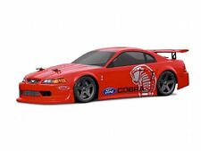 1:18 HPI 7608 Ford Mustang Cobra Lexan Body / Karosserie clear + decals wb140mm