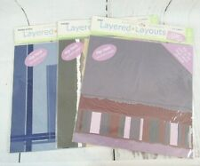Lot of 3 Colorbok Coordinated 2 Pg Layout 3D Scrapbook 12x12 Assorted Colors New