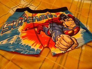 NEW  SUPER MAN CARTOON CHARACTER BOXERS SIZE SMALL