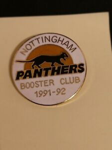 Nottingham Panthers ice hockey booster club pin badge 1991/2