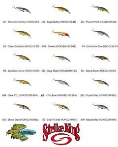 Strike King Jerkbait KVD 100 (HCKVDJ100) Pick Any 15 Colors SUSPENDING Lure