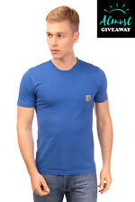 CARHARTT T-Shirt Top Size S Logo Patch Chest Pocket Short Sleeve Crew Neck