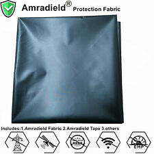 Black Copper Faraday Conductive Fabric EMF RF Blocking Shielding Effectiveness