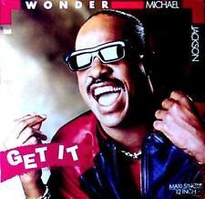 "12"" - Stevie Wonder & Michael Jackson - Get It (BOOGIE FUNK) NUEVO - MINT LISTEN"