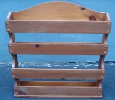 "Vintage Solid Wood Wooden Herbs & Spices Jars Wall Rack Shelf  26"" X 24"" X 4"""