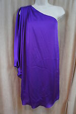 Aqua Dresses Sz 10 Violet One Shoulder Beaded Mini Cocktail Party Dress