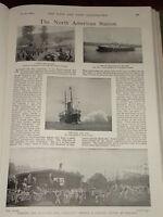 1899 Boer Guerra Norte Americano Estación Azul Marino Halifax N. S