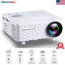 1080P Home Theater Cinema USB HDMI AV SD Mini Portable HD LED Projector Laptop