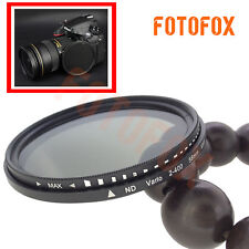 77mm ND2-400 Fader Adjustable Variable Neutral Density ND Filter ND2 to ND400