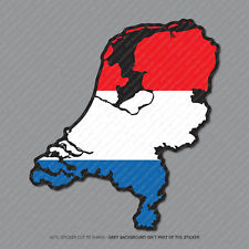 Etiqueta engomada de la bandera de mapa de países Bajos-Coche-Laptop-Macbook Notebook - 2949