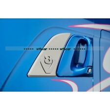 metal made a pair door side plate v8 logo  for 1/14 Tamiya Scania R470 R620