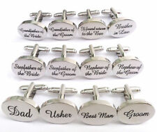 Wedding Personalised cufflinks  Best Man, Groom, Dad**free 1st class postage**