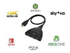 3 In 1 HDMI Splitter Adapter V2.0 HD High Speed 4K/3D/PS4/Xbox! HDMI Splitter