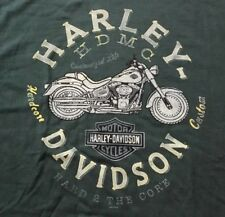 Harley Davidson Hard 2 the Core dark green Shirt Nwt Men's XL