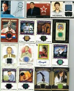 Celebrity/Allen&Ginter Patches & Autos Lot of (22) Cards