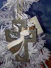 Believe Angle on cross Christmas Ornament