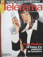 2337 TARANTINO PULP FICTION MICHEL FOUCAULT PATRICIA KAAS HAÏTI TELERAMA 1994