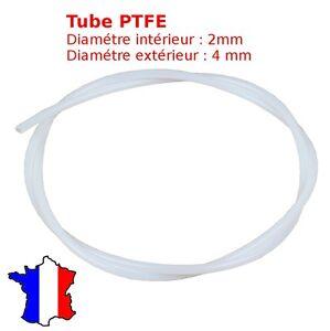 tube PTFE Teflon - tuyau pneumatique 4x2mm bowden filament 1.75mm imprimante 3d