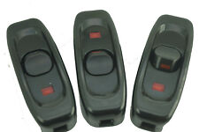 3x With Indicator light 240V 10A Inline ON/OFF Switch for Sewing machine lights