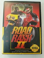 Road Rash II (Sega Genesis, 1992) Cart And Box - No Manual - FREE SHIPPING