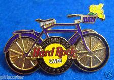 AMSTERDAM DUTCH BIKE SERIES PURPLE BICYCLE DECEMBER TULIPS Hard Rock Cafe PIN