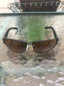 Serengeti Sunglasses 7731 Aviator Frame Brown Polarized Lens Made in Italy /case