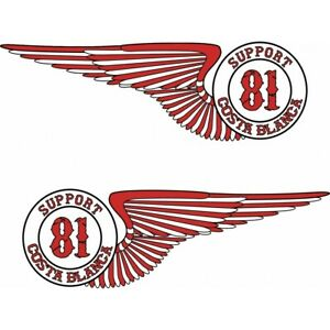 01 Hells Angels Support 81 sticker  Wings 2x (21cm)