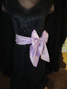 100% Silk Sash Women's Belt Lavender